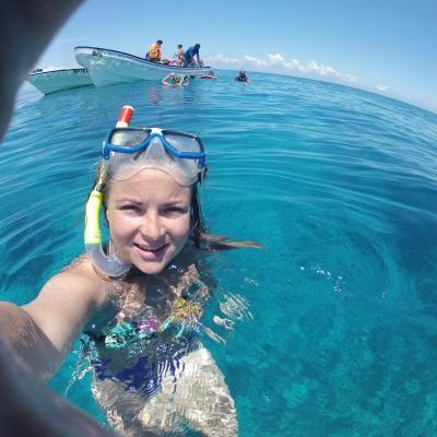Volunteer snorkeling in Fiji